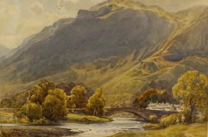 Harold Gresley - A Scene In The Lake District