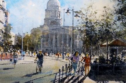 Gerald Green - Towards Market Square Angel Row Nottingham