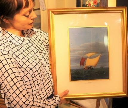 Claire with Nicola Crescimanna painting
