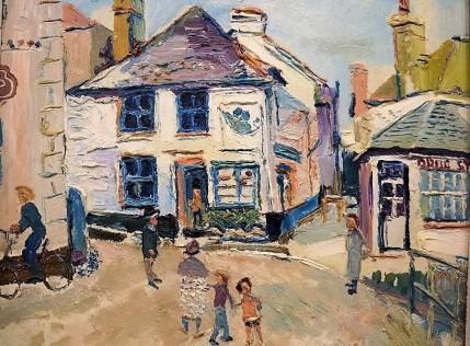 Fred Yates - Mousehole Street Scene