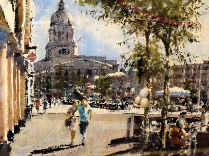 Gerald Green - Market Square from Angel Row