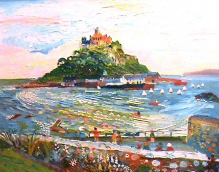 Fred Yates - St Michael's Mount from the Qwelva